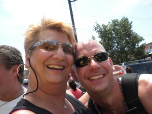 Me and my cousin Peter at the Chicago Gay Pride Parade in 2007 (I think that's the year)