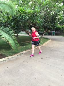 My dad caught a shot of me while I was running in the park this morning.