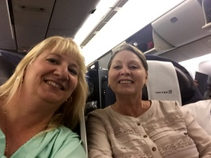 Brenda and me on the plane